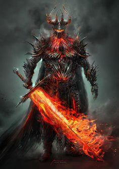 """""""Dark Lord"""" by Jonás López Moreno Dark Fantasy Art, Fantasy Concept Art, Fantasy Armor, Fantasy Character Design, Medieval Fantasy, Character Art, Fantasy Art Warrior, Digital Art Illustration, Illustration Fantasy"""