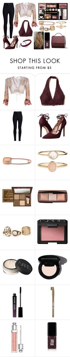 """Burgundy Beauty"" by xxstardustxx ❤ liked on Polyvore featuring Etro, Hollister Co., Rodarte, Massimo Matteo, Mara Hotung, Accessorize, Too Faced Cosmetics, Burt's Bees, Terre Mère and NARS Cosmetics"