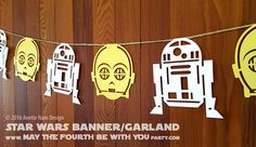 Disney Party Ideas:  Star Wars Party Banner