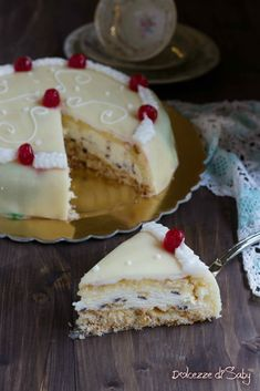 Casata Cake, Torte Cake, No Bake Cake, Cassata Siciliana Recipe, Cassata Cake Recipe, Italian Pastries, Italian Desserts, Dessert Cake Recipes, Cookie Desserts