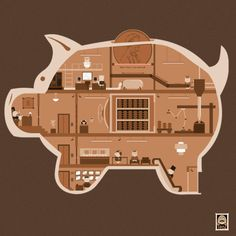 Piggy Bank by Teo Zirinis