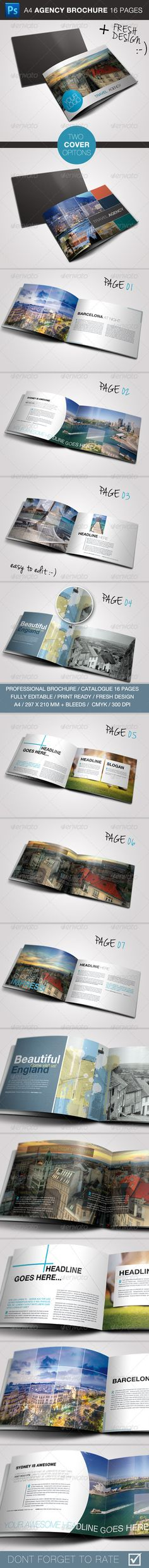 Buy Travel / Business Brochure by pixxli on GraphicRiver. This is a complete layout for a printable brochure. Text and images/colors are easy to change, just drop in your own . Travel Brochure Template, Design Brochure, Creative Brochure, Brochure Layout, Branding Design, Brochure Inspiration, Graphic Design Inspiration, Business Brochure, Business Travel