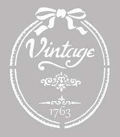 Pochoir Adhésif 25 x 20 cm AFFICHE VINTAGE 1763 Number Stencils, Sign Stencils, Stencil Templates, Stencil Patterns, Stencil Diy, Stencil Designs, Collages D'images, Home Bild, Victorian Frame