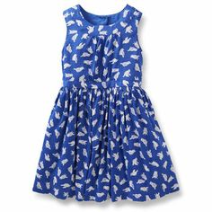 Sateen Print Dress