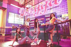 Estilo Retro, Kpop Girl Groups, Korean Girl Groups, Kpop Girls, Triple H, Seohyun, Extended Play, 2ne1, Milky Way