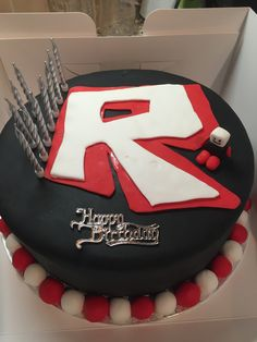 My efforts on a Roblox birthday cake for my 10year old!