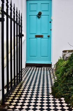 Get this funky classic look: The tiles: https://originalfeatures.co.uk/online-shop/ennerdale-50-a-design.html The ironmongery: http://originalfeatures.co.uk/ironmongery/view-ranges.html Then all that's left is to pick a colour paint!