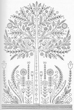 Image result for scandinavian bird coloring page Adult Coloring Book Pages, Coloring Pages For Grown Ups, Free Printable Coloring Pages, Free Coloring Pages, Coloring Sheets, Coloring Books, To Color, Quilling Patterns, Hand Embroidery Patterns