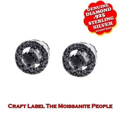 """1/2 Ct Black Genuine Diamond Stud Earrings In 14K Gold """"Mother\'s Day Gift"""". Starting at $149"""