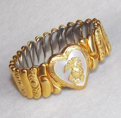 WWII Marine Sweetheart Vintage Estate Expansion Bracelet