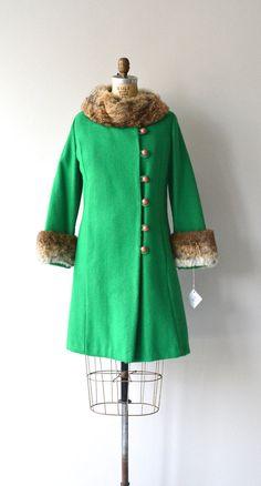 Ganneyfeld wool and rabbit coat vintage 1960s wool por DearGolden