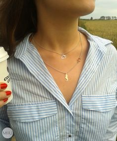 Coffee street style with jewelry made by MOU