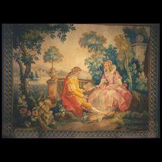 Stock Id: #40-1581    General Rug Type:       European    Specific Rug Type:       Tapestry    Circa: 1900    Color: Multi    Origin: France    Width: 5' 0'' ( 152.4 cm )    Length: 7' 0'' ( 213.4 cm )