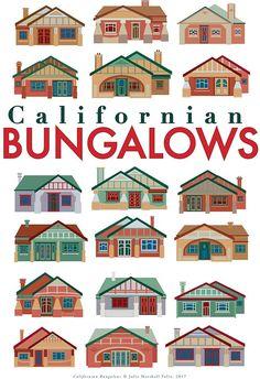 Californian Bungalows giclee art print