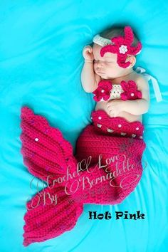 Got this for our baby girl!!!   Cutest Baby Mermaid Costume Made to Order by CrochetbyBernadette