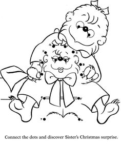 berenstain bears matching activity trace printables pinterest berenstain bears bears and activities - Berenstain Bears Coloring Book