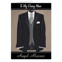 "Elegant & Classy Man""s  Birthday Card - birthday gifts party celebration custom gift ideas diy"