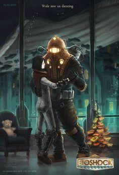 Second art of Bioshock fan-art set. Wale saw us dancing Bioshock 2, Bioshock Artwork, Bioshock Rapture, Bioshock Series, Bioshock Quotes, Bioshock Cosplay, King's Quest, Fallout New Vegas, Fallout 3