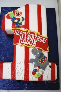 Love this idea for a 1st Birthday circus party.
