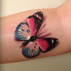 Cotton Candy Colored Realistic Butterfly