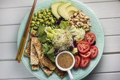 Crispy Sesame-Tofu Salad w/ Miso Dressing