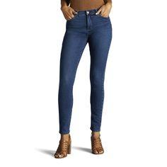 Women's Lee Rebound Slim Fit Skinny Jeans, Size: 8 - regular, Dark Blue
