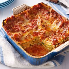 Vegetable Lasagna This hearty vegetarian lasagna is packed with veggies and uses smart substitutions to cut calories, but still tastes delicious.