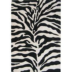 Handmade Zebra Wool Rug (8' x 10')