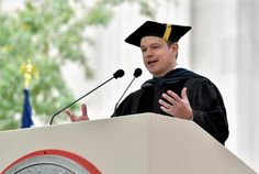 Matt Damon: turn toward the problem of your choosing