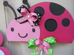 i need to try and recreate this for our babies room! it would make my husband so happy! she is his ladybug!
