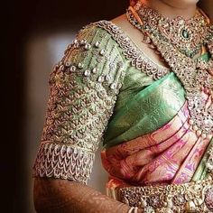 Shop for a variety of blouses in high neck, sleeveless, boat neck, sleeveless, embroidered & more online. Wedding Saree Blouse Designs, Pattu Saree Blouse Designs, Blouse Designs Silk, Designer Blouse Patterns, Hand Work Blouse Design, Stylish Blouse Design, Salwar Kameez, Couture, Maggam Works