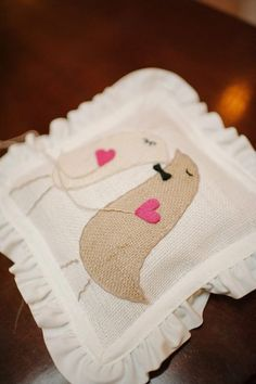Love Birdies Ring Pillow (can also cross stitch similar)