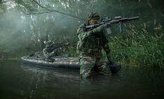 Navy SEALs woodland assault training