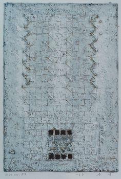 D-24.Nov.1997 paper making, painting, collage 林孝彦 HAYASHI Takahiko 1997