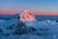 Triglav 2,864m (9,396 ft) - The highest mountain in Slovenia and the highest peak of the Julian Alps.