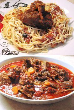 Spaghetti, Beef, Ethnic Recipes, Food, Meat, Essen, Meals, Yemek, Noodle