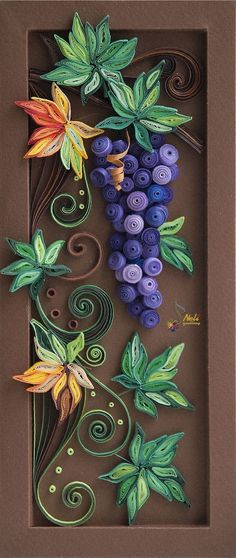 neli: Quilling panel _ 6 I absolutely love this! Might have to give quilling a try. Neli Quilling, Paper Quilling Patterns, Origami And Quilling, Quilled Paper Art, Quilling Paper Craft, Origami Art, Paper Crafts, Diy Crafts, Quilling Ideas