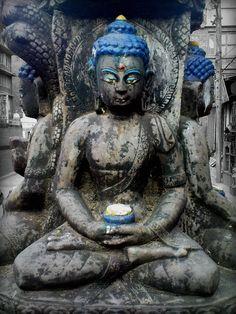 Nepal blue buddha