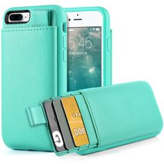 iPhone 7 Plus Leather Case, iPhone 7 Plus Wallet Case, LAMEEKU Protective iPhone 7 Plus Card Holder cases with Credit Card & ID Card Slot, Shockproof Cover for Apple iPhone 7 Plus 2016 5.5inch Blue -- Awesome products selected by Anna Churchill