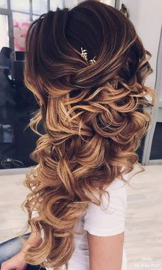 Long hair wedding idea