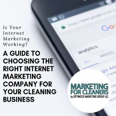 How do you filter the bad from the good internet marketing companies? Read this guide for how to choose the best SEO agency for your cleaning business. Internet Marketing Agency, Seo Agency, Seo Marketing, Digital Marketing Strategy, Business Marketing, Seo Analysis, Cleaning Business, Leap Of Faith, Competitor Analysis