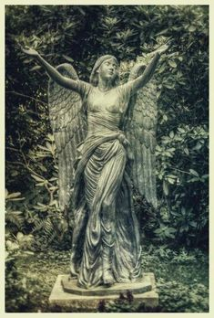 ☫ Angelic ☫ winged cemetery angels and zen statuary - Hamburg, Germany Cemetery Angels, Cemetery Statues, Cemetery Headstones, Old Cemeteries, Cemetery Art, Graveyards, Angels Among Us, Angels And Demons, Steinmetz