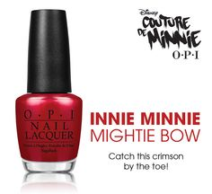 This red goes on so creamy and smooth , then dries to a pearlescent finish. #OPI #CouturedeMinnie