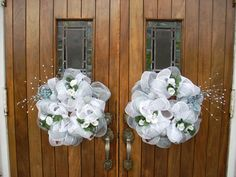 interesting use of ribbon, uses less flowers Wedding Wreaths, Wedding Flowers, Wedding Decorations, Church Decorations, Wedding Arches, Wedding Ideas, Wedding Crafts, Wedding Signs, Wedding Stuff