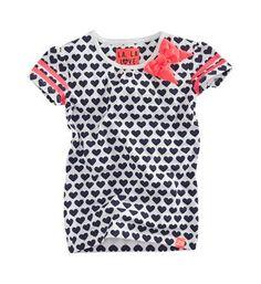Z8 t-shirt, model Kiki, met een all over hartjesprint - Wit dessin - NummerZestien.eu