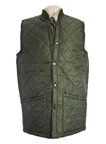 Men S Quilted Olive Green Casual Jacket Car Coat