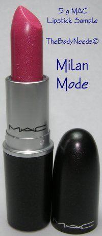 MAC Lip Stick Sample - Milan Mode - Sheer Deep Pink with Multidimensional Pearl (Lustre) thebodyneeds2.com $3.79