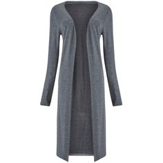 Phase Eight Long Side Split Cardigan, Grey ($73) ❤ liked on Polyvore featuring tops, cardigans, gray top, long open front cardigan, long length cardigan, long sleeve cardigan and longline cardigan