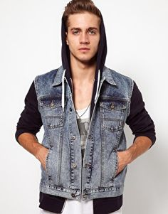 Guys, would you rock this denim look? #denim #jean #menswear