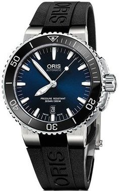 @oris  Watch Aquis Date Rubber #bezel-unidirectional #bracelet-strap-rubber #brand-oris #case-material-steel #case-width-43mm #date-yes #delivery-timescale-4-7-days #dial-colour-blue #gender-mens #luxury #movement-automatic #official-stockist-for-oris-watches #packaging-oris-watch-packaging #style-divers #subcat-aquis #supplier-model-no-01-733-7653-4135-07-4-26-34eb #warranty-oris-official-2-year-guarantee #water-resistant-300m
